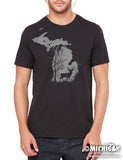 Deer in the Woods - Mens T-Shirt - Black