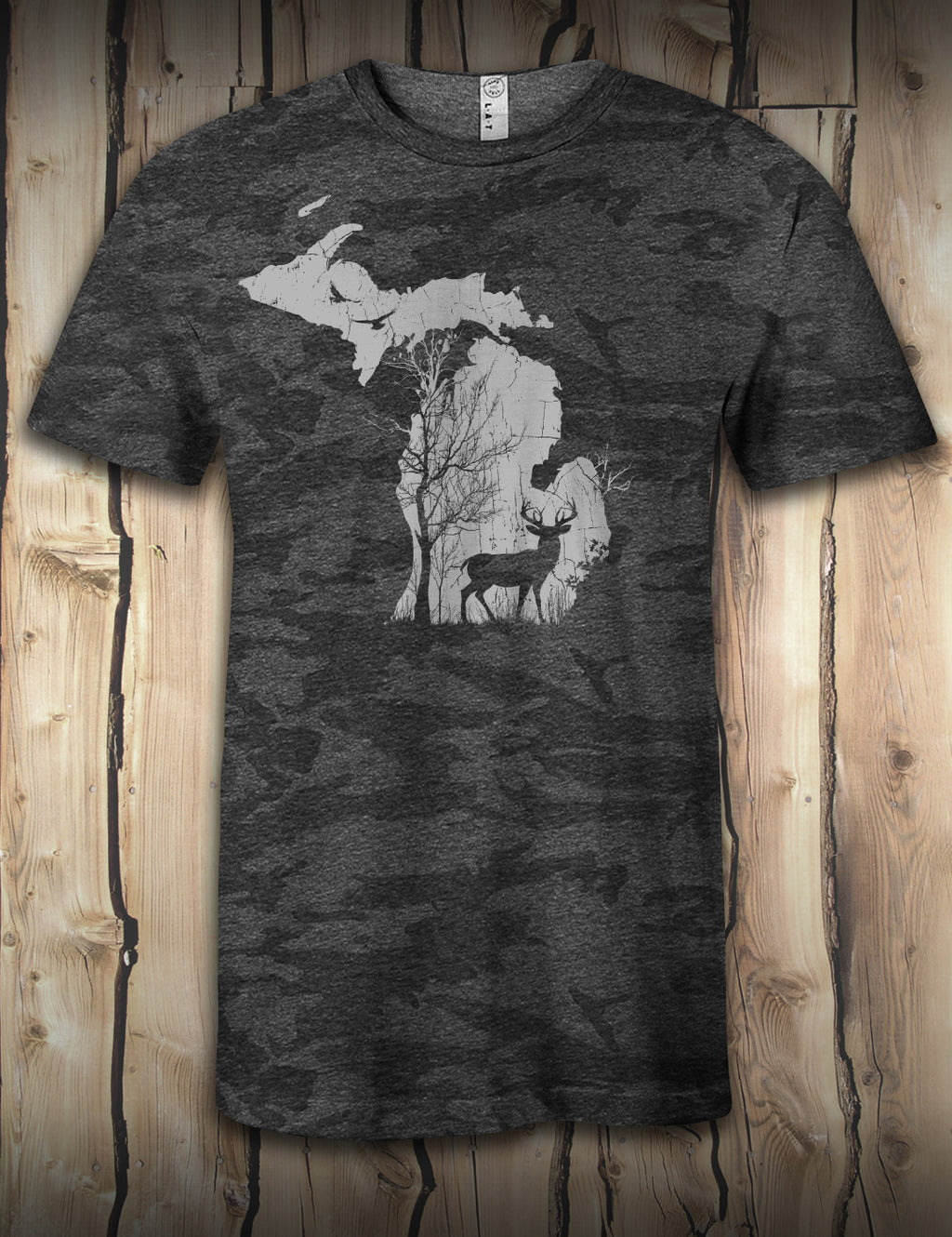 Deer in the Woods - Black Camo