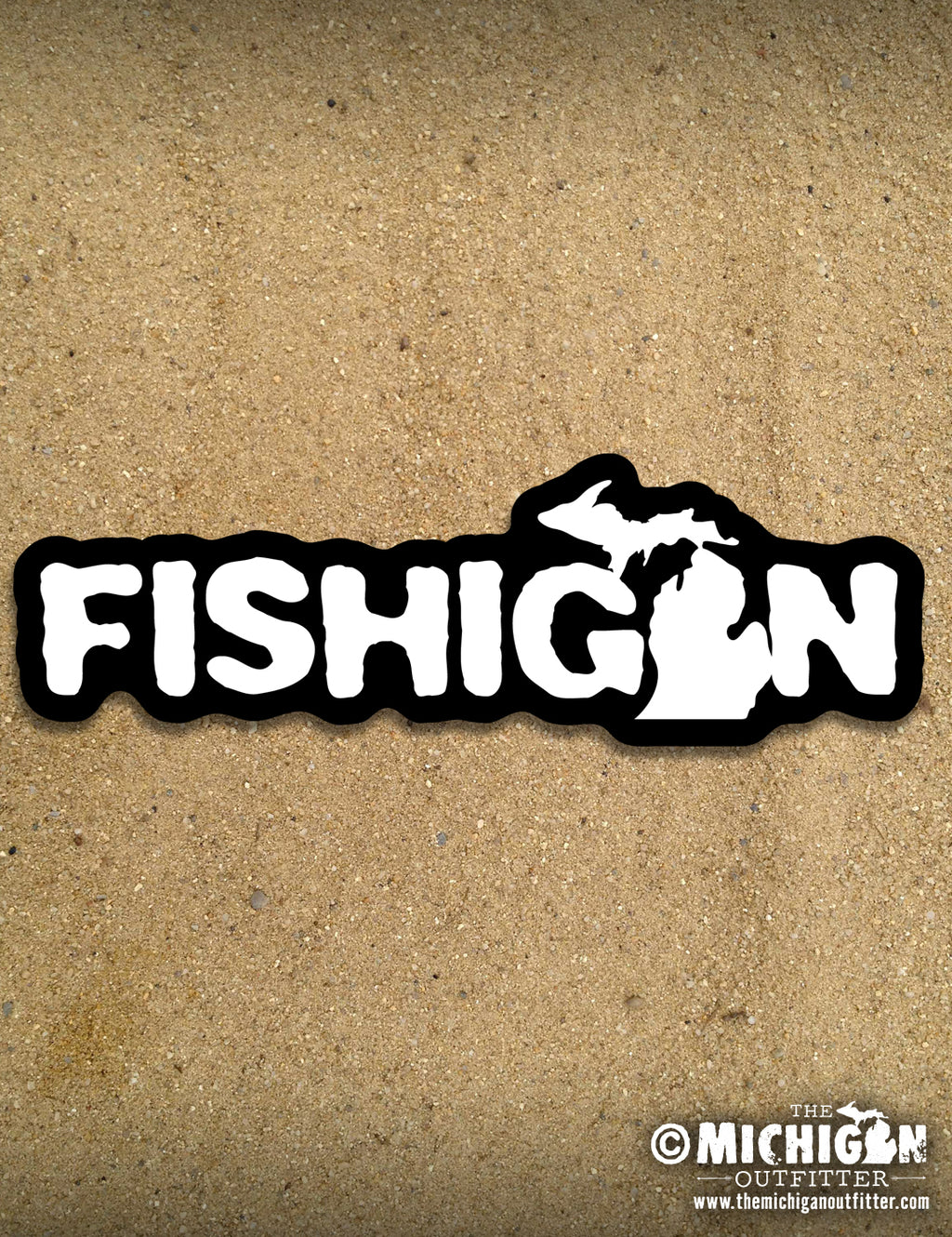 "6"" Sticker - Fishigan"