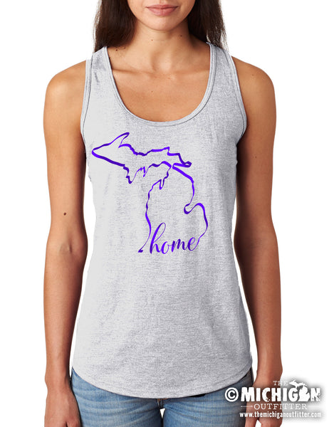 Michigan Home - Women's Tank - Gray