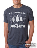 I'd Rather Be Upnorth - Mens T-Shirt - Heather Navy