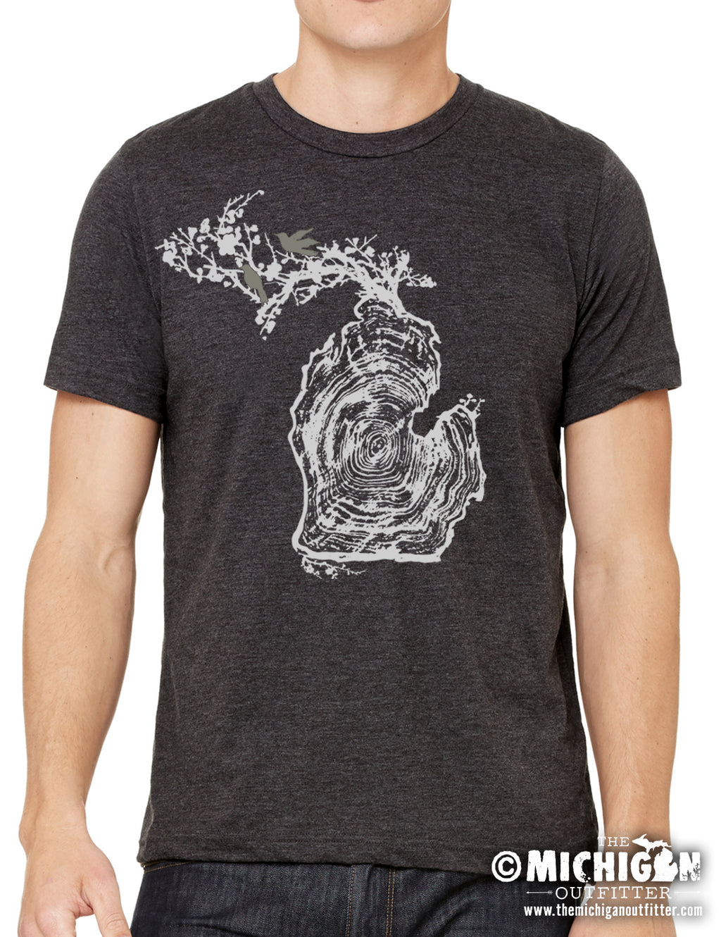 Log - Mens T-Shirt - Dark Heather