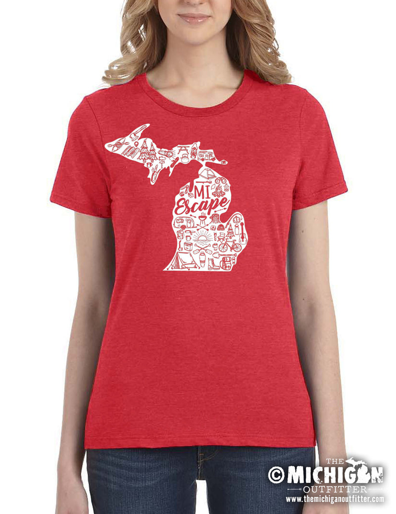 MI Escape - Women's T-Shirt - Heather Red