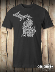 MI Ride - Mens T-Shirt - Vintage Black