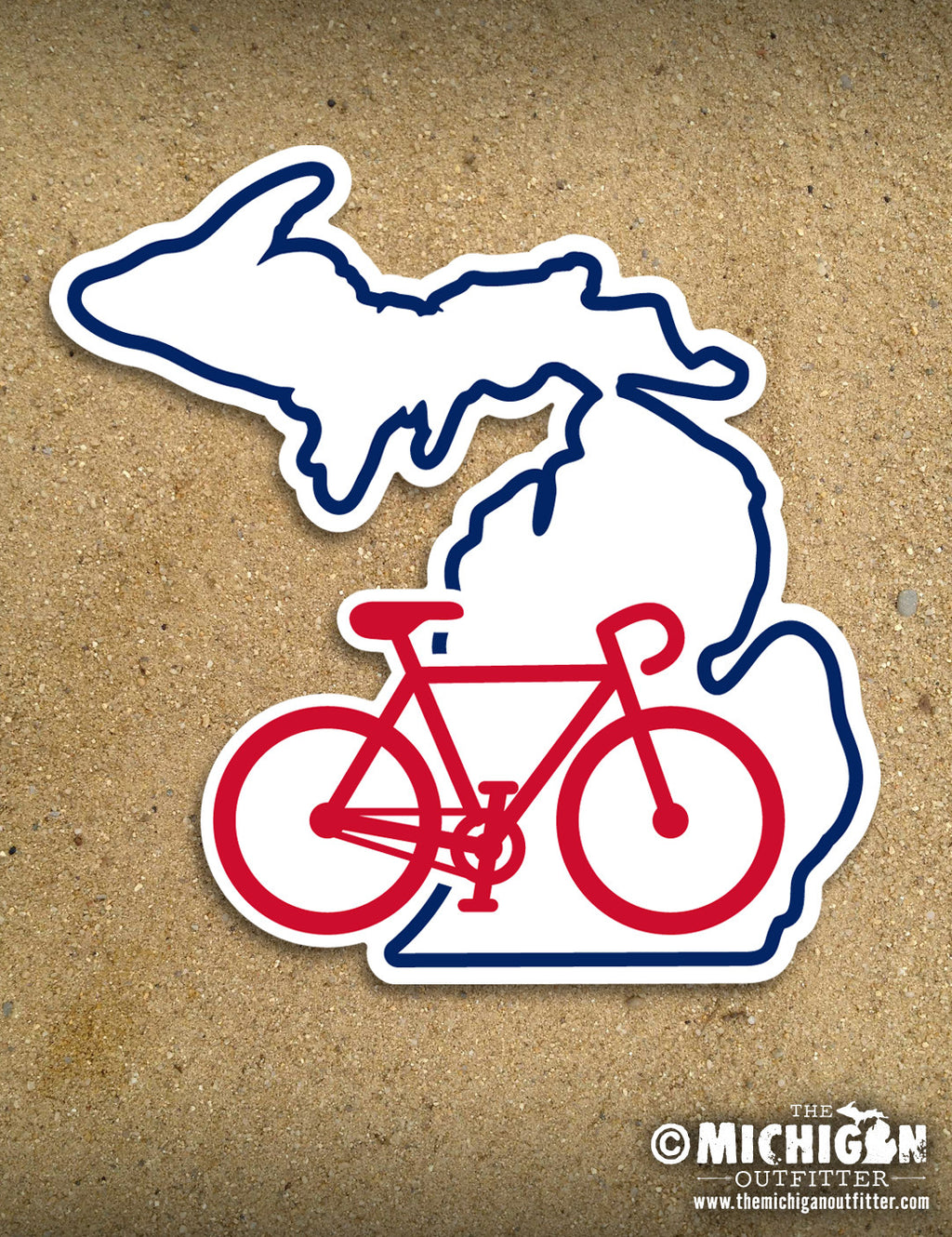 "4"" Michigan Sticker - MI Ride"