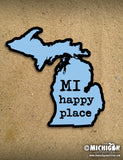 "4"" Michigan Sticker - MI Happy Place"