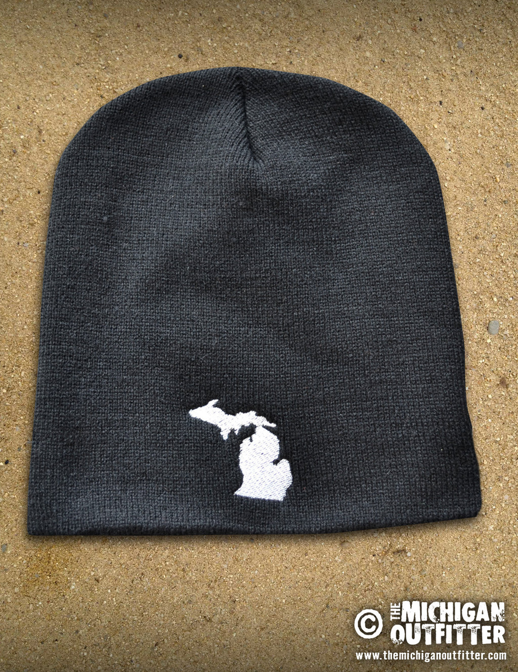 Michigan Knit Beanie - Black