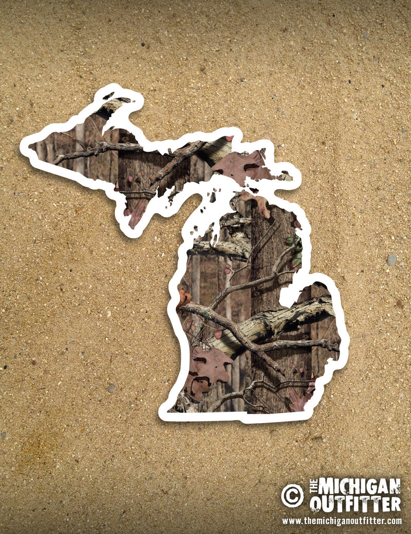 "4"" Michigan Sticker - Watercolor Beach"