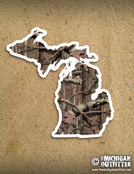 "4"" Michigan Sticker - Camo"