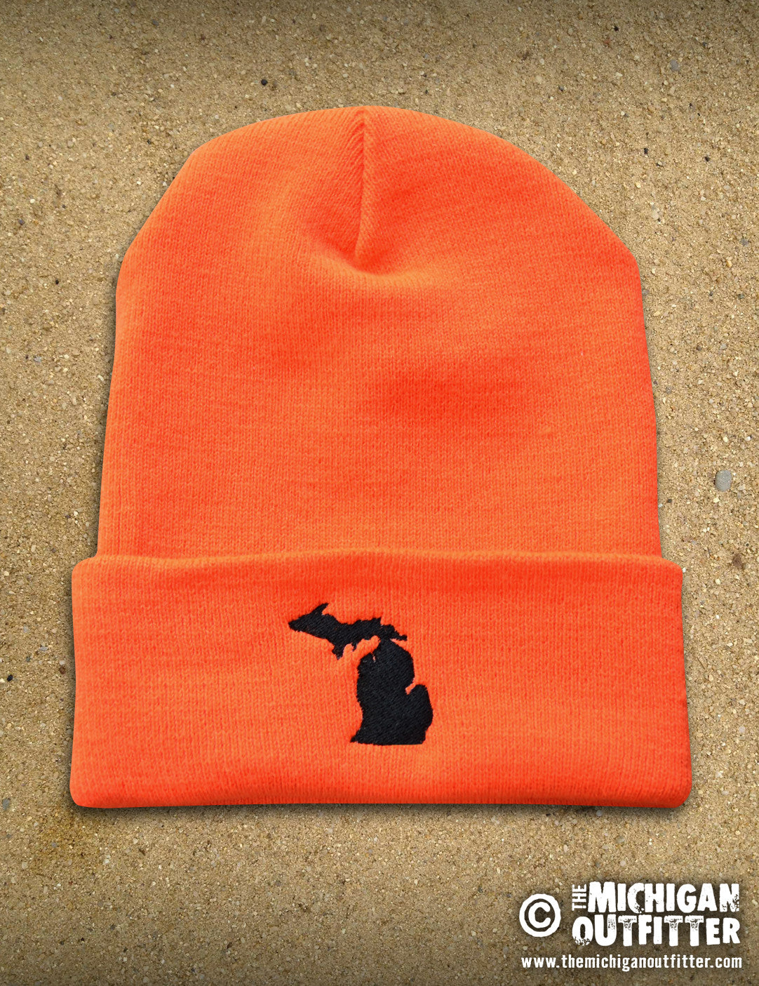 Michigan Heavy Weight Knit Cap - Hunter Orange