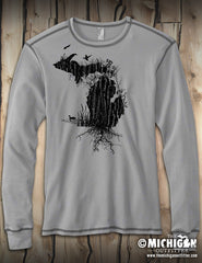 Michigan Nature - Mens Thermal - Gray