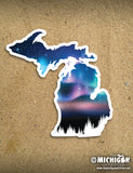 "4"" Michigan Sticker - Northern Lights"