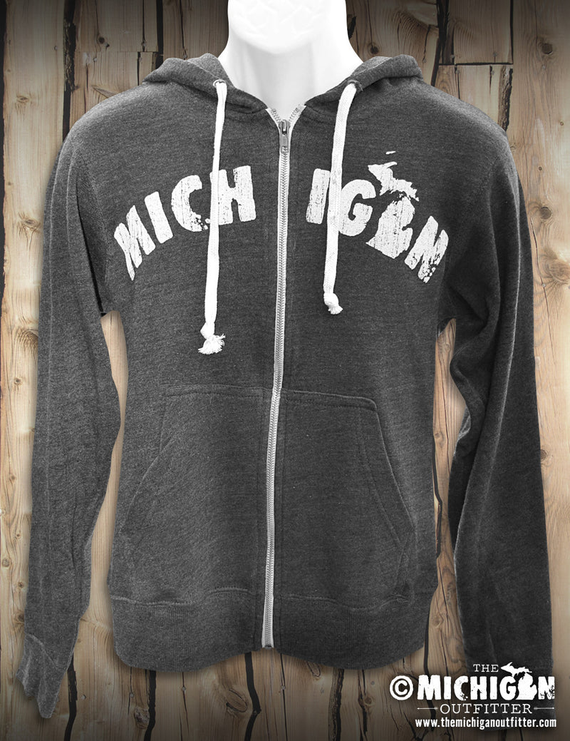 Petoskey Stone - Unisex Hoodie - Heather Gray and Black