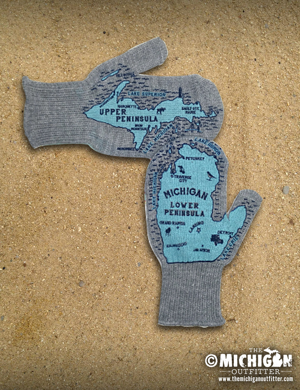 Gray Michigan Mittens
