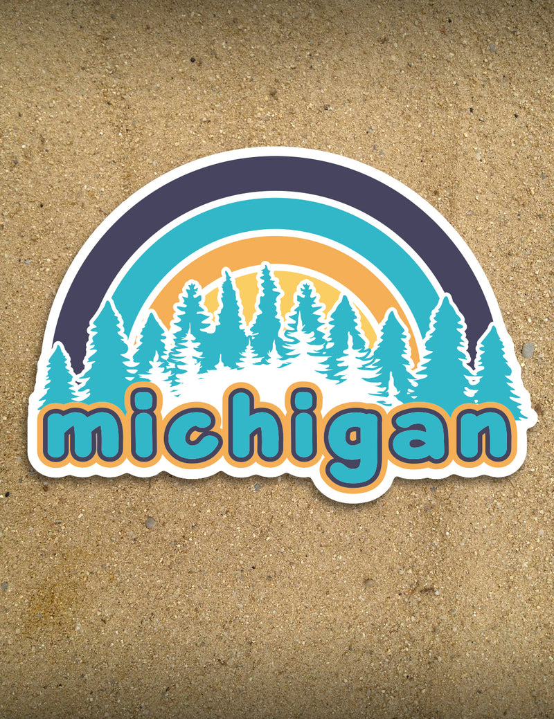"4"" Michigan Sticker - Bars"