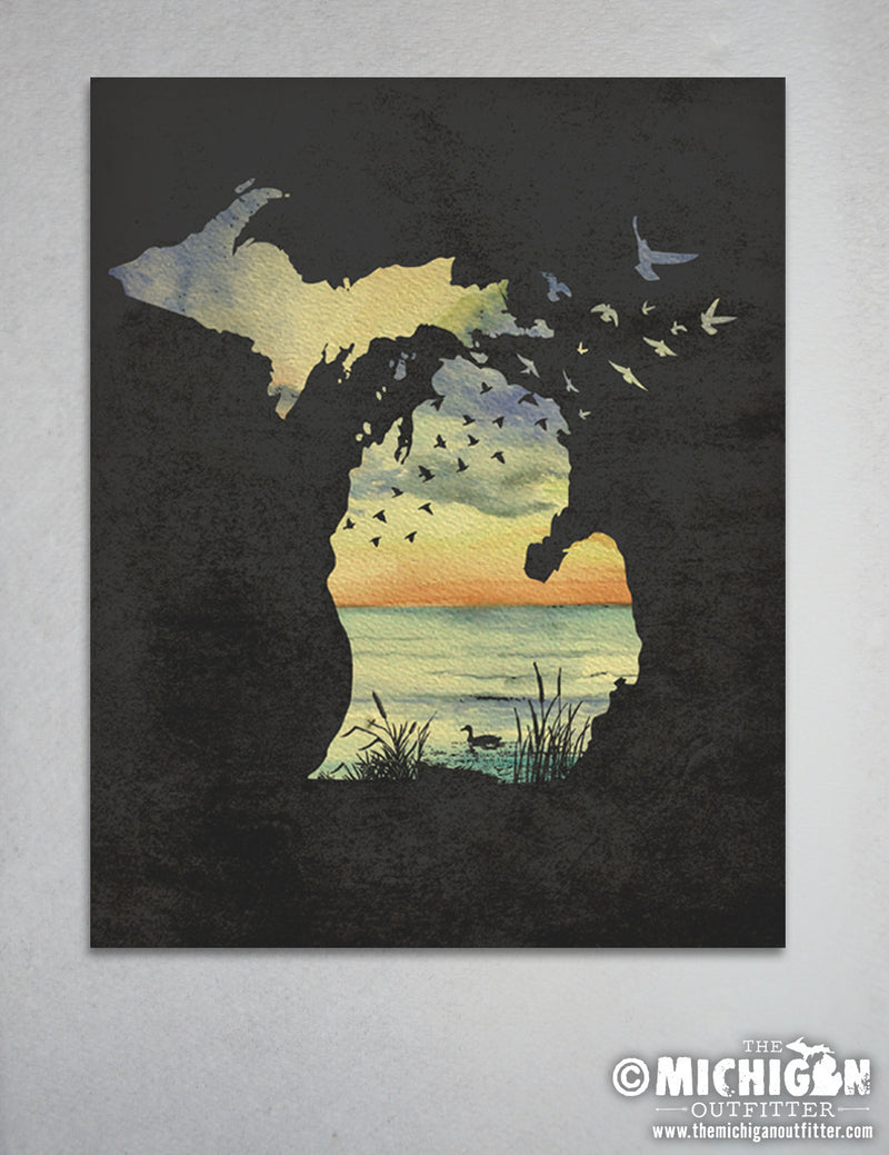 "8"" x 10"" Print - Sunset Birds"