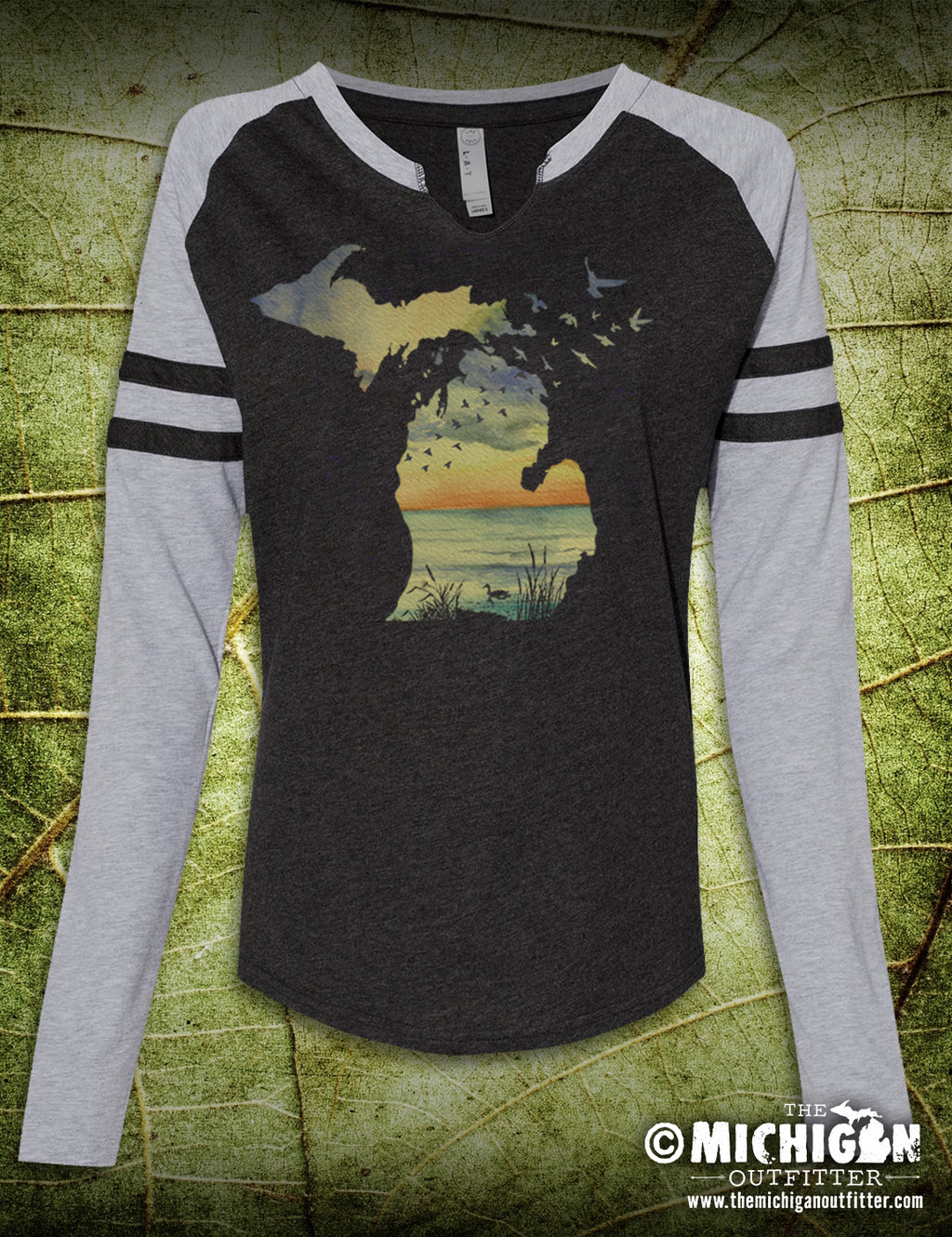Sunset Birds- Gameday Long Sleeve - Vintage Smoke / Gray