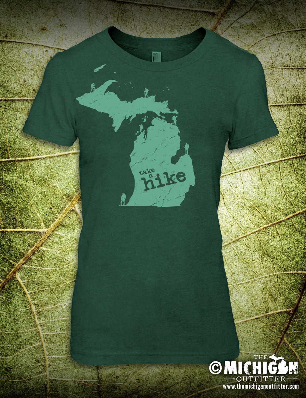 Take A Hike - Women's T-Shirt - Heather Dark Green