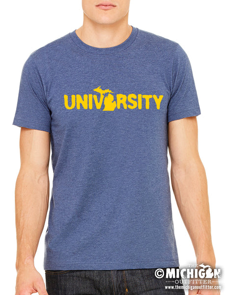 University - Mens T-Shirt - Heather Navy