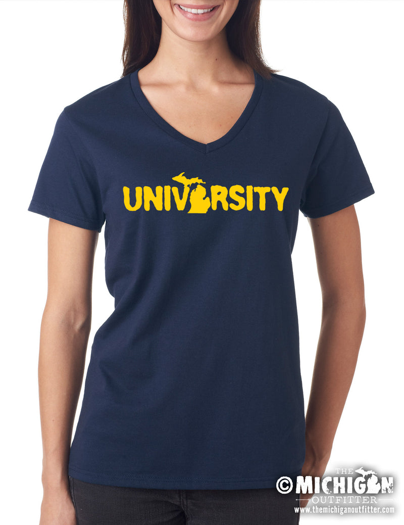 University - Women's V-Neck T-Shirt - Navy