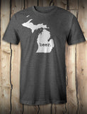 Michigan Beer - Mens T-Shirt - Dark Heather