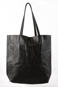 Black Metallic Tote Bag