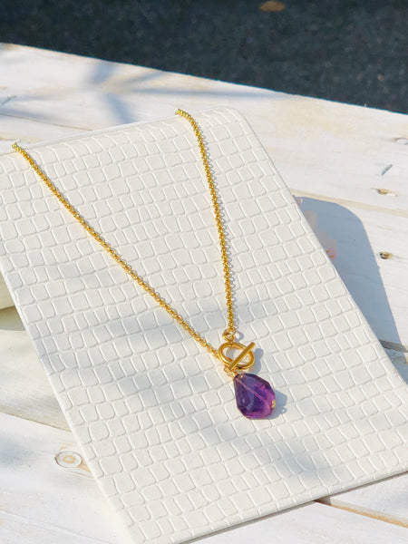 Crown Chakra T Bar Necklace