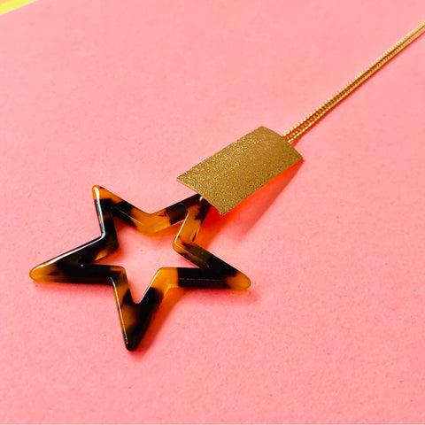 Recycled plastic star necklace