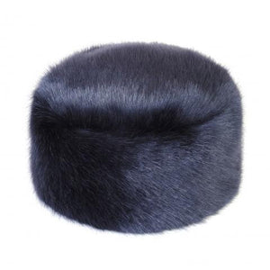 Midnight Faux Fur Pillbox Hat