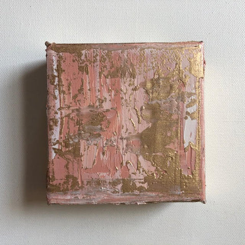 "Metallic Blush 4""x4"""