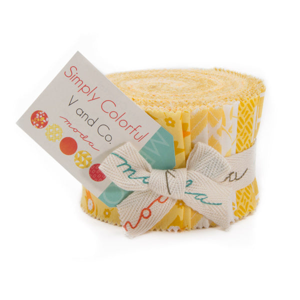 Simply Colorful by V and Co. for Moda Yellow - Lady Belle Fabric