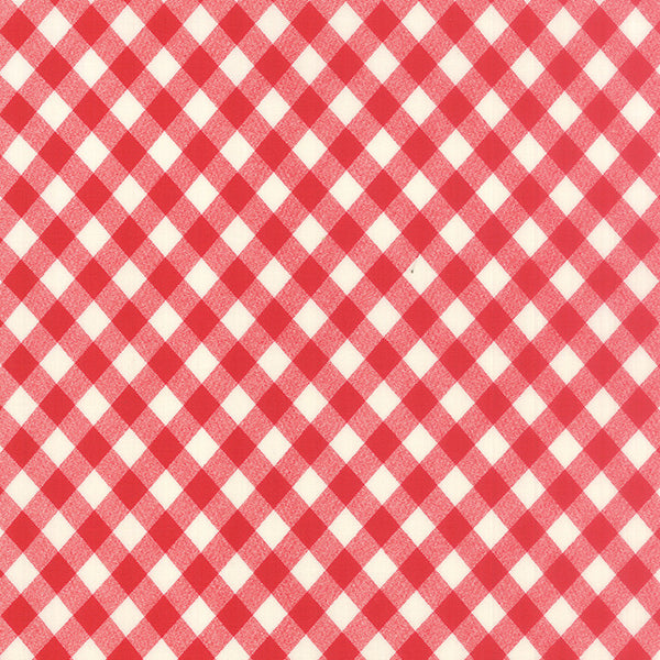 vintage picnic, red, backing fabric