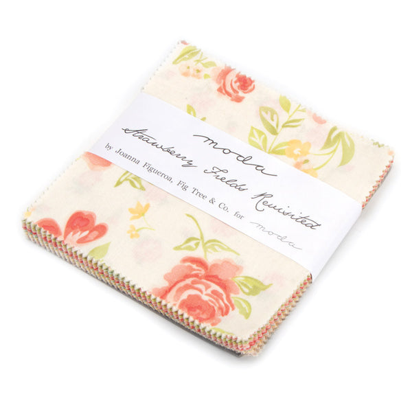 Strawberry Fields Revisited Charm Pack by Fig Tree and Co. for Moda