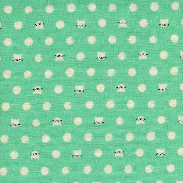 cat lady fabric double gauze