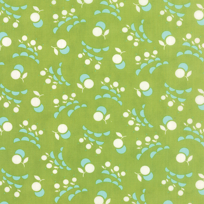Vintage Picnic Green Cherries 55127-14 by Bonnie and Camille for Moda