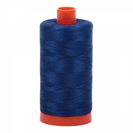 Aurifil Cotton Thread 50wt Dark Delft Blue 2780