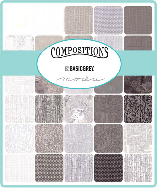 Compositions by Basic Grey for Moda fat Quarter Bundle