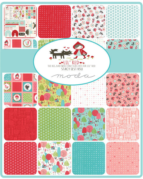Lil Red by Stacy Iest Hsu for Moda Fat Quarter Bundle - Lady Belle Fabric  - 2