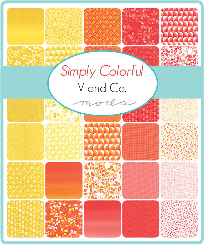 Simply Colorful by V and Co. for Moda Fat Quarter Bundle - Lady Belle Fabric