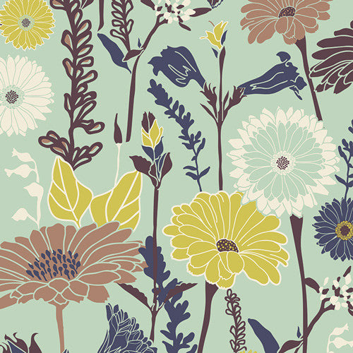 Cultivate by Bonnie Christine Flower Field Mist - Lady Belle Fabric