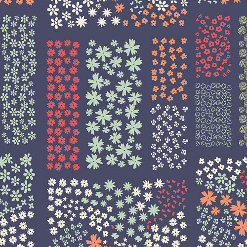 Cultivate by Bonnie Christine Floriculture Midnight - Lady Belle Fabric