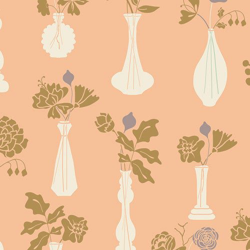 Cultivate by Bonnie Christine Vintage Vases Ginger - Lady Belle Fabric