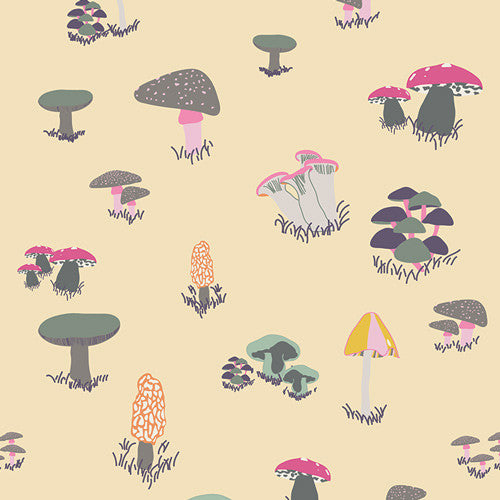 Fantasia by Sara Lawson for Art Gallery Fabrics Agaricus Forest Froth - Lady Belle Fabric