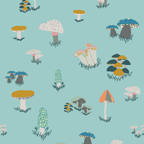 Fantasia  Agaricus Forest Water fabric