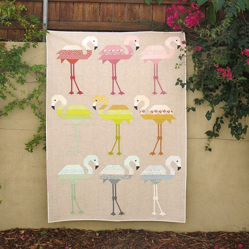 Florence Flamingo Quilt Kit by Elizabeth Hartman