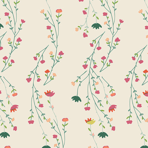 Garden Dreamer Climbing Posies Pale by Maureen Cracknell for Art Gallery Fabrics