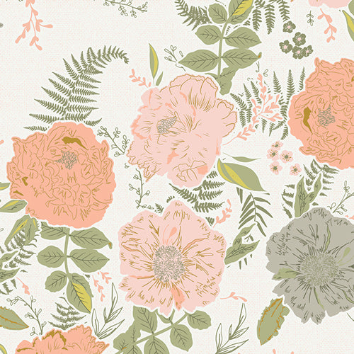 Foraged Garland Peony by Bonnie Christine for Art Gallery Fabrics Gathered