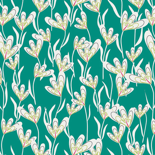 Jungle Ave by Sara Lawson for Art Gallery Fabrics Greenhouse Lane - Lady Belle Fabric