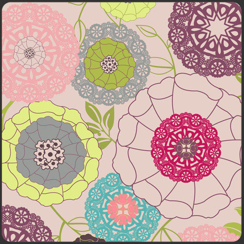 Modernology by Pat Bravo for Art Gallery Fabrics Avant Garden Blush - Lady Belle Fabric