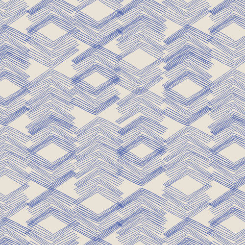 Morning Walk by Leah Duncan for Art Galley Fabrics Limestone Feel Indigo - Lady Belle Fabric